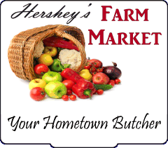 Hershey's Farm Market, Chester and Lancaster county grown produce, deer processing, dog treats, dutch bakery, homestyle deli, specialty meats, party platters, sandwiches, seafood.